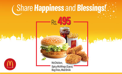 McDonalds PKR 495 Ramzan deal