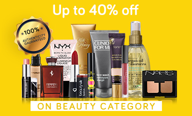 Beauty upto 40% Off