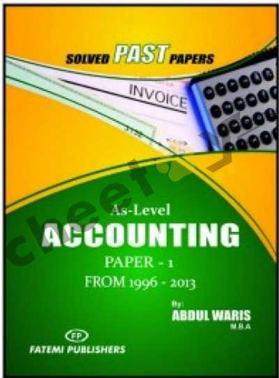 Accounting Paper 1 Solved